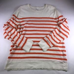 Mens Gap Orange/White Striped Shirt